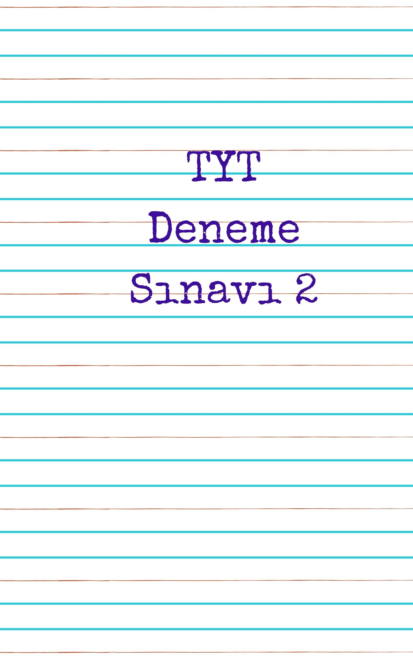 TYT Türkçe Deneme Sınavı 2